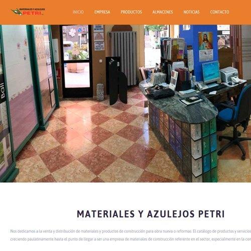 Nueva pagina de Azulejos Petri S.L.
